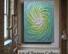 36 x 24 Original textura abstracto moderno oro por artoftexture