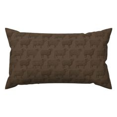Antique Sheep Illustrations on Aged Brown Lumbar Throw Pillow @ Spoonflower #spoonflower #fabric #pillow #pillows #throwpillows #throwpillow #pillows #pillow