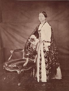 Queen Victoria as a young woman (1840s-50s)