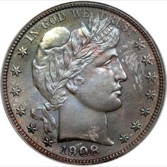 1900 Barber Half Dollar, the dime and quarter look the same just ...