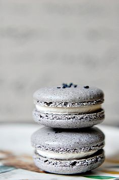 When it comes to food, there's no such thing as dull. Pale Grey Macarons
