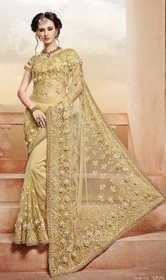 Buy Golden Net Indian Women Saree – Banglewale International