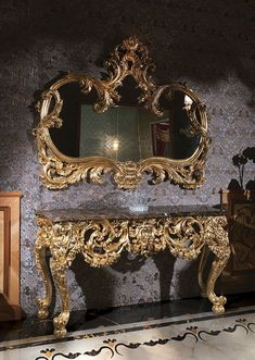 Luxury Gold carving console italian style design for classy interior 👇 download royal catalog 👇