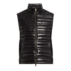 Burberry Quilted down gilet ($442) ❤ liked on Polyvore featuring men's fashion, men's clothing, men's outerwear, men's vests, black, mens slim fit vest, mens down vest, burberry mens vest, mens insulated vest and mens quilted vest