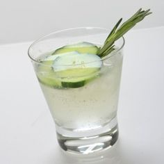 Rosemary and cucumber gin and tonic [ CityWineCellar.com ] #city #cellar #wine #quality #experience