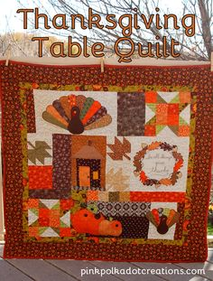 Pink Polka Dot Creations:  Thanksgiving Table Quilt.  A Kimberbell Designs pattern.