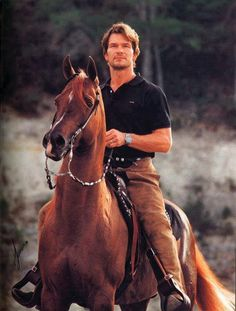 Patrick Swayze on an Arabian!!! Perfection!!!! <3