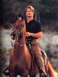 Patrick Swayze on an Arabian!!! Perfection!!!! <3