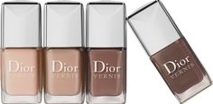 Dior Vernis Nude in 115 Charnelle, 223 Trench, 413 Grege and 715 Twill