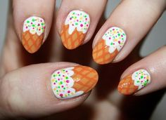 This nail design is easy to do