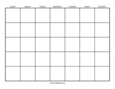 Create your own calendar with this fill in the blank calendar this printable calendar template lets you build your own custom calendar free to download and saigontimesfo