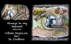 Cibele Degrazia - Layout Always in my Heart for Sa Crafters