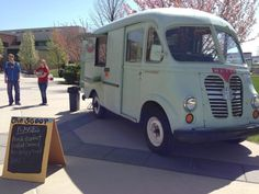 Scoops ice cream truck!  Cuteness!! It's a Metro Van!!!!!
