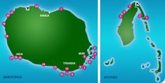 Cook Islands hotels. Handy to know where they all are. :)