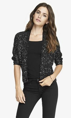 SEQUIN DOLMAN COVER-UP SWEATER | Express