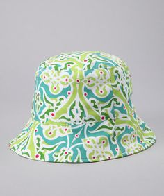 Bebe Bella Designs Turquoise Garden Reversible Bucket Hat - Toddler   Girls 6c2eb0dd087f