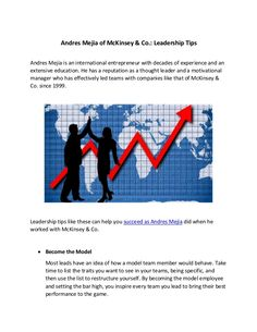 Andres Mejia of McKinsey & Co.: Leadership Tips