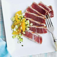 Grilled Tuna with Fennel-Orange Relish  coastalliving.com