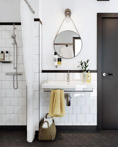 These Are the Hottest Home Trends Right Now, According to Instagram via @MyDomaine ++shower~ integral with floor