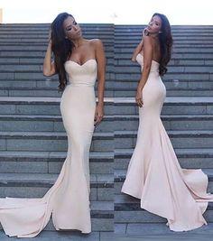 SIMPLE LONG PROM DRESS SWEETHEART MERMAID PROM DRESS/EVENING DRESS MK579