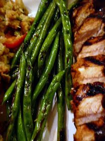Slice of Southern: Grilled Green Beans