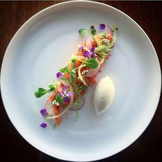 """Gin cured salmon, pickled cucumber, radish"" By @phils_kitchen_nz ____________________________"