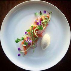 """Gin cured salmon, pickled cucumber, radish"" By @phils_kitchen_nz ____________________________"