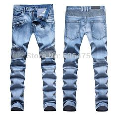 fashion Brand Men's Jeans Slim Straight washed Denim Pants Classic casual cozy 100% Cotton jeans Free shipping Price: US $65.55
