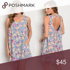 """New floral open back dress . Brand new from my boutique  . Model is wearing the exact product  . Fabric content: 100% polyester  . Made in the USA - Brand is Peach Love California, this retailed at Nordstrom for $70+              Any questions? Don't hesitate to ask  ✨ Use the """"buy now"""" or """"add to bundle"""" feature to purchase ✨ Nordstrom Dresses Mini"""