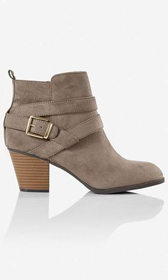 Not sure I know what to wear with ankle boots, these are cute though. Zip-up Buckle Ankle Boot | Express