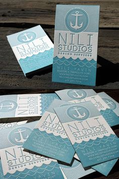 Nautical Themed Letterpress Business Card | Business Cards | The Design Inspiration