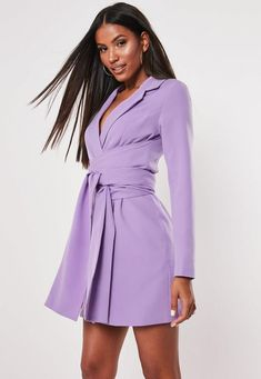 Have a look at this missguided wrap dress having pastel violet color available at missguided. Purple Cocktail Dress, Midi Cocktail Dress, Blazer Dress, Tee Dress, Wrap Around Dress, Turquoise Dress, Going Out Dresses, Nice Dresses, Lilac Dress