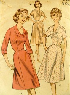 802bd3fb2bd8 Vintage 1960s Butterick 9335 Pattern One by VintageNeedleFinds