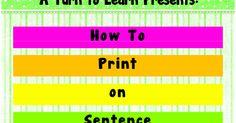Classroom Freebies Too: Do You Want to Print on Sentence Strips?