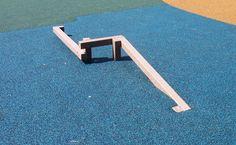 Diy Balance Beam, Balance Board, Preschool Playground, Diy Playground, Ninja Warrior Course, Inclined Plane, Backyard For Kids, Backyard Ideas, Outdoor Play Equipment