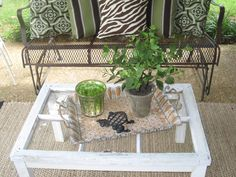 Love the 'window' table she made