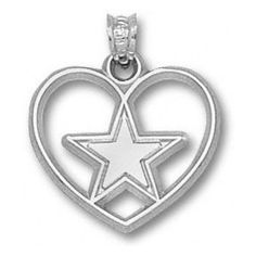 938 nfl color logo heart pendant dallas cowboys pinterest nfl dallas cowboys sterling silver star heart pendant aloadofball Gallery