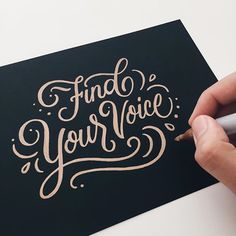 Beautiful lettering work by Joanna Muñoz, aka Wink & Wonder, an art director based in Los Angeles. More lettering inspiration via From up North Hand Lettering Quotes, Creative Lettering, Types Of Lettering, Script Lettering, Calligraphy Letters, Typography Quotes, Typography Letters, Lettering Design, Hand Typography
