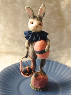 Easter display vignette spun cotton Bunny egg and by jejemae