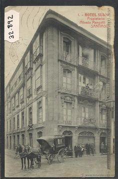 SANTIAGO - HOTEL SUIZO - 1 - THOMAS - (32892) (Postales - España - Galicia Antigua (hasta 1939) - A Coruña)