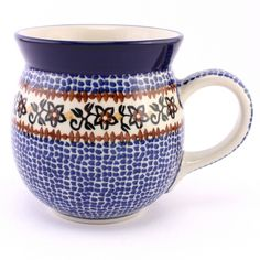 Nice bubble mug, lovely decoration for a man :) Polish pottery from http://slavicapottery.com