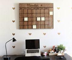 calendario diy de madera