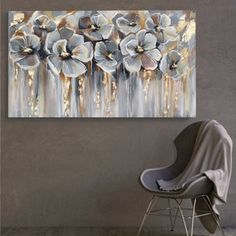 Acrylic Artwork, Abstract Canvas Art, Art Pour Salon, Gold Art, Living Room Art, Abstract Flowers, Texture Painting, Pictures To Paint, Your Paintings