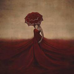 the creation of blood and bones | Flickr - by Brooke Shaden.  Red and magical!