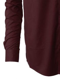 LE3NO PREMIUM Mens Classic Wrinkle Resistant Long Sleeve Button Down Shirt