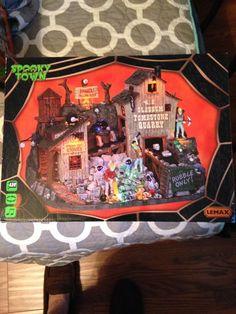 Lemax Spooky Town  W.E. Slabbum Tombstone Quarry