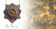 Solar handcrafted macrame necklace with Bronzite. A shining star with the golden light od the Sun. Always stylish and preatty. This stone is a silicate compound