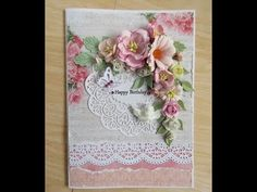 Floral card - YouTube