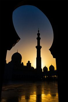Mosque Silhouette Sheikh Zayed Mosque, Abu Dhabi This is beautiful, I would love to see it!