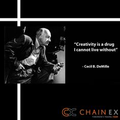 """Creativity is a drug I cannot live without"" - Cecil B. DeMille #Unique #Inspo #Create #Life #KeepGoing Social Media Pages, I Can Not, Drugs, Creativity, Live, Create, Unique, Movies, Movie Posters"